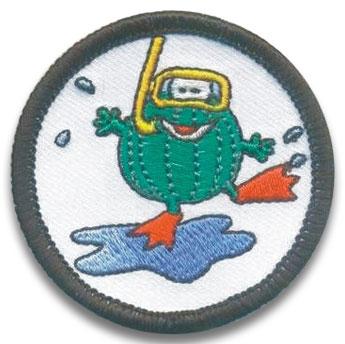 Schwimmabzeichen mit eigenem Motiv | Frosch